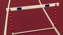 Hurdle on sports track