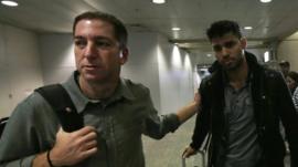 Glenn Greenwald and David Miranda