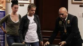 Michaella McCollum (left) and Melissa Reid arrive at court