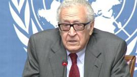 UN Syria envoy Lakhdar Brahimi