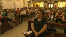 Syrian Christians in church