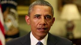 President Obama makes an address about action on Syria in a White House video