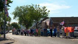 Woodvale protest