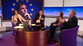 Jo Coburn, Andrew Neil, Susan Kramer and Mark Pritchard