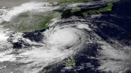 Satellite image of Typhoon Usagi