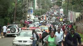 People running from sound of explosion at Westgate centre