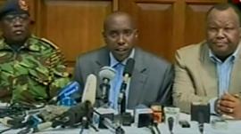 Kenya's Interior Cabinet Secretary, Joseph Ole Lenku