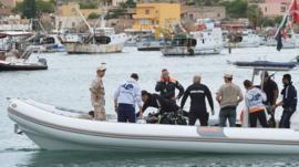 Lampedusa diving team