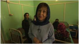 Lyse Doucet at Malalai hospital