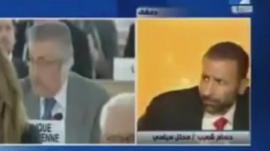 Correspondent Hussam Shoaib reacting to the blast