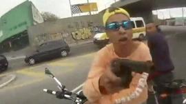 Man with gun in Brazil