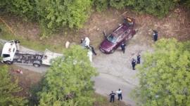 Aerial view of the Al-Hilli family murder crime scene near Annecy