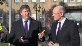 Alistair Carmichael and John Swinney