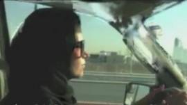 Mai al Swayan driving in Riyadh