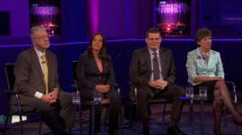 Michael Russell, Kezia Dugdale, Peter McColl and Liz Smith