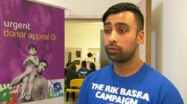 Sunny Bains said his son Gaurav desperately needed a transplant