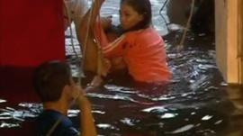 Flood waters in Tacloban