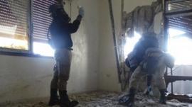 UN weapons inspectors in Syria