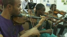 Classical music students in Nigeria