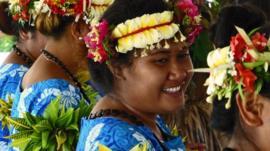 Tuvala's traditional dancers