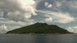 Disputed island in the East China Sea