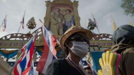 Protesters leave Thai army HQ