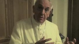 Pope in Christmas video message