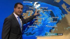 BBC Weather's Stav Danaos