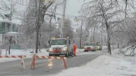 US snow scene