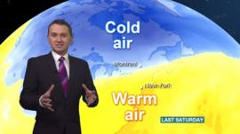 BBC weather on North America