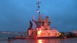 A ship in Southampton