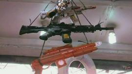 Toy guns on sale in Pakistan