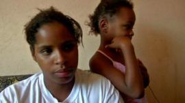 Family living in favela