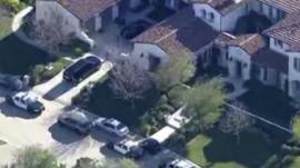 Aerial view of Justin Bieber's home