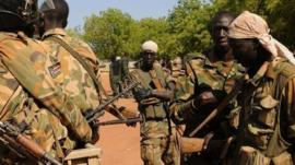 South Sudanese army troops, 12 Jan