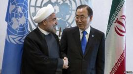United Nations Secretary-General Ban Ki-moon and Iran