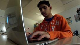 Viraj Puri at a computer