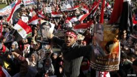 Crowds in Cairo