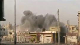 A blast in Homs