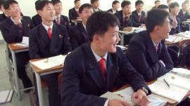 North Korea university classroom