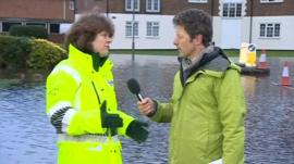 Alison Baptiste and the BBC's Charlie Stayt