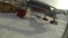 View of ski lifts