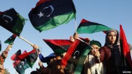 Libyan's celebrate revolution anniversary - recent image