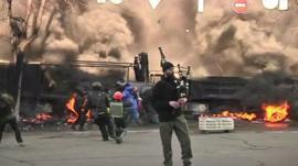 Bagpiper in Ukraine