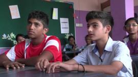 School children in Singapore