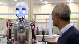 Gerry the robot and George Alagiah