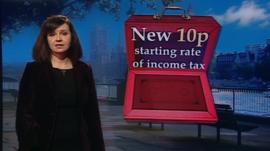 Caroline Flint with Budget graphic