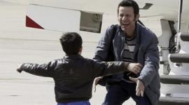 Javier Espinosa and his son Yerai