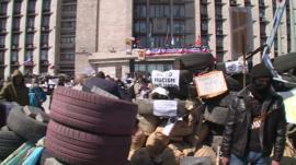 Activists in Donetsk