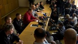 European military observers' news conference